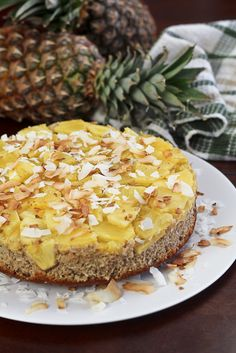 pineapple upside down cake (buckwheat flour, flax, coconut, almond meal, applesauce, egg whites)