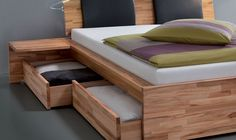 Hasena Woodline Etti - Varus Storage/Platform Bed with Drawers - Head2Bed UK