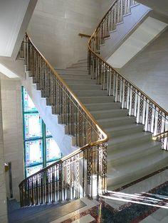 Tulsa, OK Federal Building staircase by army.arch, via Flickr