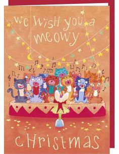 "Carte de Voeux ""Meowy Christmas !"""