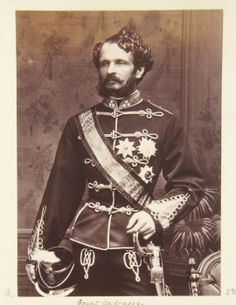 Count Julius Andrassy of Hungary. Crown Princess Victoria, Queen Victoria, Austria, Franz Josef I, Two Sicilies, The Royal Collection, Second Empire, Elisabeth, Her World