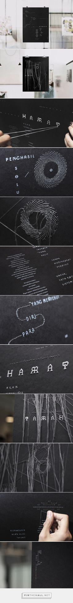 Harap Parah on Behance - Sewn poster, threads