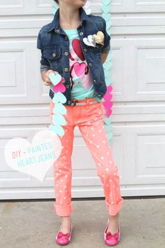 Painted Heart Jeans
