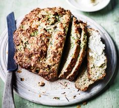 This simple loaf is easy to make but big on flavour and texture, with mature cheese, grated courgettes, oats and thyme