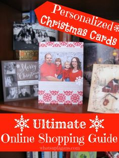 Personalized Christmas Cards: Online Shopping Guide. Quickly and easily find out which online Holiday card retailers offer what and for how much! Even includes an easy to read spreadsheet and available cash back! Sa-weet! Making an order soon thanks to this!