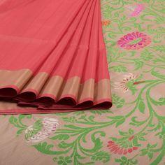 Shivangi Kasliwaal Handwoven Banarasi Kadhwa Silk Cotton Saree 10006276…