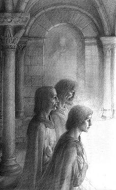 Galahad and the Grail by Alan Lee