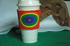 Simple Polar Coordinates Rainbow - Coffee Sleeve #8 by CafeProjections on Etsy