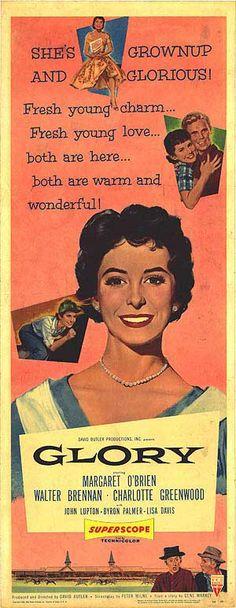 """Glory"" (1956) Stars: Margaret O'Brien, Walter Brennan, Charlotte Greenwood, John Lupton ~  Director: David Butler"