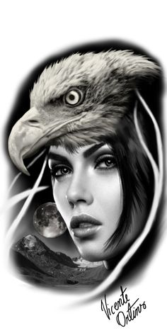 Native Tattoos, Eagle Tattoos, Wolf Tattoos, Girl Tattoos, Indian Tattoo Design, Tiger Tattoo Design, Tattoo Designs, Tattoo Drawings, Body Art Tattoos