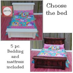 RTS Ready to Ship 18 inch Doll Bed AG MLP my by AStitchnPine