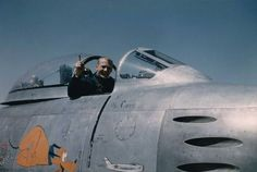 Buzz Aldrin in his F-86 Korea 1953