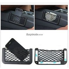 Universal Car Seat Side Back Storage Net Bag Phone holder Pocket Organizer Black in eBay Motors, Parts & Accessories, Car & Truck Parts, Interior, Other | eBay