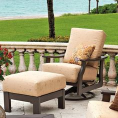 Telescope Casual St. Catherine Swivel Rocking Chair with Cushions Finish: Textured Kona, Fabric: Harvest
