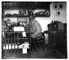 Tolstoi en su estudio. 1908