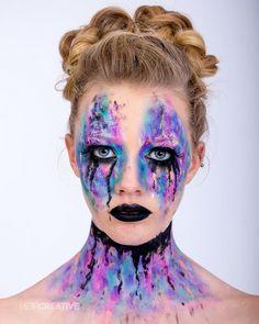 Editorial makeup Kimberly Margarita inspired