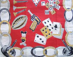 MINT Vintage Tea Towel Childrens Toys and Games
