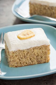 To Die For Banana Cake with Vanilla Bean Frosting @FoodBlogs