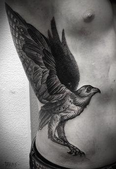 Ideas tattoo for men on ribs wings Dot Tattoos, Music Tattoos, Trendy Tattoos, Animal Tattoos, Body Art Tattoos, Tattoos For Guys, Tatoos, Tattoos For Women Flowers, Sleeve Tattoos For Women