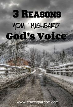 """Stacey Pardoe   3 Reasons You Might Have """"Misheard"""" God's Voice - Stacey Pardoe"""