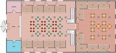 Cafe and Restaurant Floor Plans Restaurant Floor Plan, Deco Restaurant, Food Court, Small House Plans, Building Plans, Floor Plans, Layout, Flooring, How To Plan