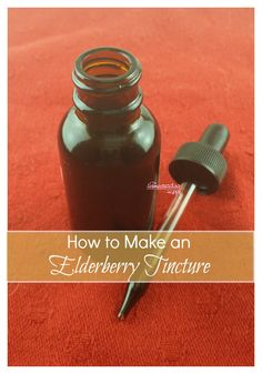 How To Make An Elderberry Tincture For All Natural Cold Symptom Relief Elderberries have been used many many years for natural health benefits. Here's how I make a tincture to help support our immune systems! The Homesteading Hippy Holistic Remedies, Homeopathic Remedies, Natural Health Remedies, Natural Cures, Natural Healing, Natural Oil, Cold Remedies, Natural Beauty, Healing Herbs