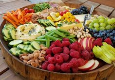 Party Platter - Happy Labor Day weekend! Just wanted to drop in to say - if you're throwing a really great party this weekend...and want to invite me...THIS is what I will bring to your PARTY! Best way to entertain a crowd! - Clean Food Crush