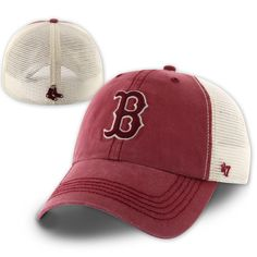 Red Sox Caprock hat with great breath-ability, this one size stretch hat has a 100% polyester mesh back and stretches to fit most head sizes. This is a fitted cap, please see the size chart.