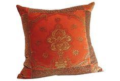 Pillow w/ 1960s Fortuny   Textile on OneKingsLane.com