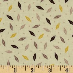 Bold Moves Tossed Leaf Brown - Discount Designer Fabric - Fabric.com