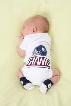 ... New York Giants Onesie Applique Onesie Football NY by sassychalets  Reebok Newborn ... e41883712