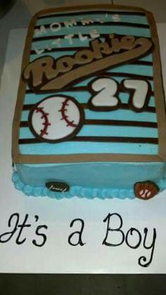 Sports theme baby shower cake