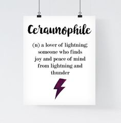 Definition Ceraunophile Print Tumblr Poster by paperblooming