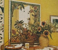 A mirror decoupaged by Sister in the Winter Town House