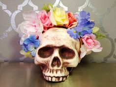 SPRING FLOWER CROWN White Periwinkle Yellow by LaCatrinaDeSanDiego