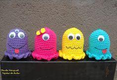 Paula Mengual Tejidos de Autor: Tutorial Souvenires para ellos: Fantasmas al croch...