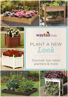 Let the gardening begin with our best planters, from traditional garden beds to quirky plant stands. Save up to 70% off at Wayfair!