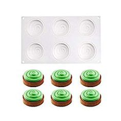 Silicone Moulds Mousse Mould for Jelly Pudding Chocolate, 6 Holes Water Ripple Shape Boutique Patisserie, Mini Hamburgers, Thing 1, Beignets, Silicone Molds, Nespresso, Jelly, Coffee Maker, Deserts