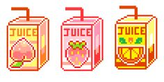 pixelins by dana Pixel Art Food, Anime Pixel Art, Perler Bead Art, Perler Beads, Pix Art, 8 Bit Art, Tumblr Art, Retro Futuristic, Cool Sketches