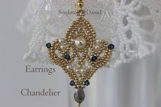 PDF tutorial seed beads earrings pattern by BeadsMadness on Etsy, $4.75
