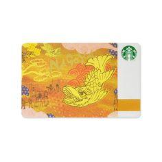 Starbucks card which designed the Nagoya image