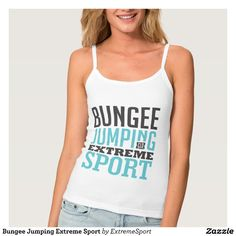 Bungee Jumping Extreme Sport Spaghetti Strap Tank Top Tank Tops