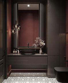 Lamp Inspiration, Interior Decorating, Interior Design, Laundry In Bathroom, Bathroom Design Small, Luxury Homes, Modern Design, Vanity, House Design
