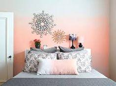pintura ombre na parede da cama