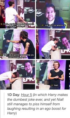Harry is going to be that dad who tries to be cool and makes really bad jokes in…