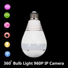 Wireless Surveillance Lamp HD IP Camera Wifi Home Security Fisheye 360 Panorama Audio V380 //Price: $87.40 & FREE Shipping //     #Computers
