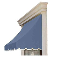 AWNTECH 8 ft. Nantucket Window/Entry Awning (31 in. H x 24 in. D) in Dusty Blue