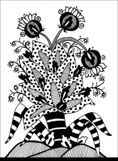 Zentangle, or Zendoodle, is the new drawing craze that everyone's talking about! Whether you're a doodler or an experienced artist, you can Zentangle! Zentangle Drawings, Doodles Zentangles, Zentangle Patterns, Art Drawings, Zen Doodle, Doodle Art, Relaxing Art, Tangle Art, Bulletins