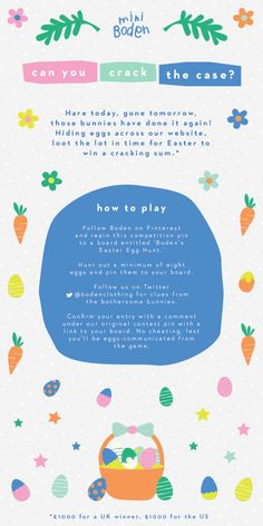 Selling chocolate eggs to the general public at Easter isn't exactly selling ice to the Eskimos. However, for the businesses who don't have this delicious advantage, there are other ways of creating effective and fun campaigns to leverage this annual Easter Hunt, Easter Eggs, Spring Activities, Easter Holidays, Email Design, Toys Shop, Mini Boden, Egg Hunt, Some Fun