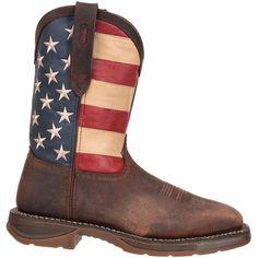 058dea9bb50 Durango Men s Rebel American Flag 11†Waterproof Steel Toe Work Boots
